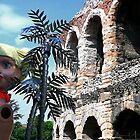 Verona Italy, Roman theatre and theatre prop by Eros Fiacconi (Sooboy)