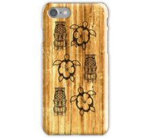 Honu And Tiki Mask iPhone Case/Skin