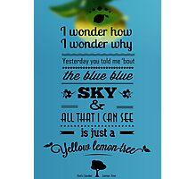 Lemon Tree - Fools Garden Photographic Print
