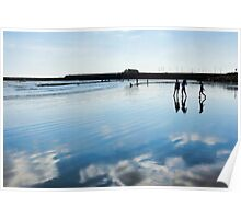 Beach Reflections ~ Lyme Regis Poster