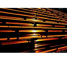 Sunset in the Bleachers Photographic Print