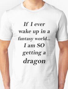 Fantasy Dragon Black T-Shirt