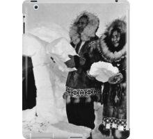 BW USA Alaska igloo builders 1970s iPad Case/Skin