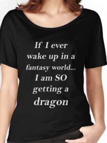 Fantasy Dragon White Women's Relaxed Fit T-Shirt