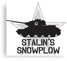 Stalin's Snowplow Canvas Print