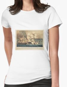 Great Naval Victory in Mobile Bay Aug 5th 1864 Womens Fitted T-Shirt