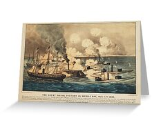 Great Naval Victory in Mobile Bay Aug 5th 1864 Greeting Card