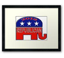 Rebulican Elephant 2016 Elections USA Framed Print
