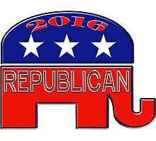 Rebulican Elephant 2016 Elections USA Photographic Print
