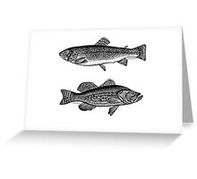 One fish...Two fish Greeting Card