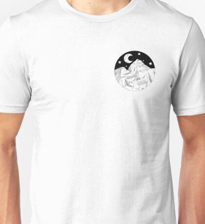 Midnight Mountains Original Ink Illustration  Unisex T-Shirt