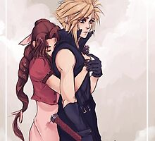 Cloud and Aerith by xradiosity