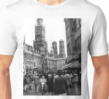 BW Germany Munich Frauenkirche Frauenplatz 1970s Unisex T-Shirt