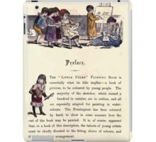 The Little Folks Painting book by George Weatherly and Kate Greenaway 0121 iPad Case/Skin
