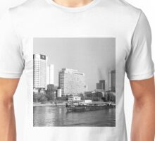 BW Germany Frankfurt Main river 1970s Unisex T-Shirt