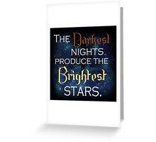 Dark Night, Bright Stars Greeting Card