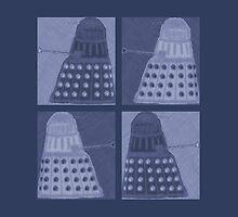 Daleks in negatives - blue by Lenka24