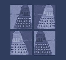 Daleks in negatives - blue by Lenka24