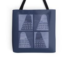 Daleks in negatives - blue Tote Bag