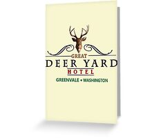 Deadly Premonition - Great Deer Yard Hotel Greeting Card