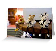 Funny farm animals Greeting Card