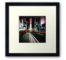 Times Square 2 Framed Print
