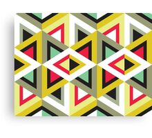 Stripy Triangle Pattern Canvas Print