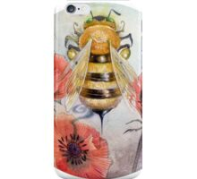 Honeybee - Poppies iPhone Case/Skin