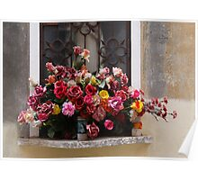 Colorful Bouquet Of Plastic Flowers Poster
