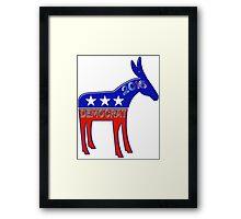 Democratic Donkey - 2016 Elections USA Framed Print
