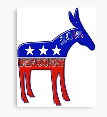 Democratic Donkey - 2016 Elections USA Canvas Print