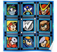 Megaman 2 Boss Select Poster