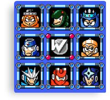 Megaman 3 Boss Select Canvas Print
