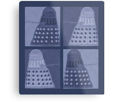 Daleks in negatives - blue Metal Print