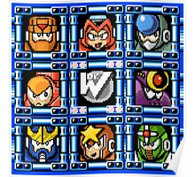 Megaman 5 boss select Poster