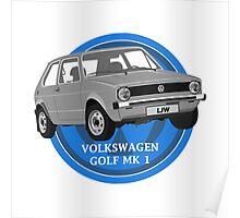 Volkswagen Golf Mk 1 Design Poster