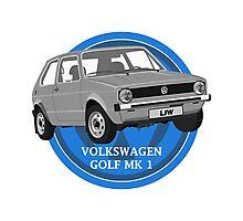Volkswagen Golf Mk 1 Design Photographic Print
