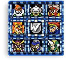 Megaman 6 boss select Canvas Print