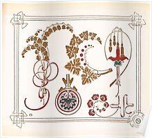 Maurice Verneuil Georges Auriol Alphonse Mucha Art Deco Nouveau Patterns Combinaisons Ornementalis 0029 Poster