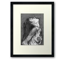 Looking Up in Charcoal Framed Print