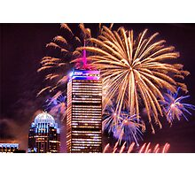 Happy Fourth of July from Boston, MA Photographic Print