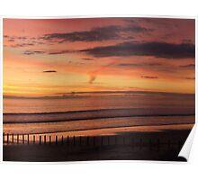 Sunset, Aldinga Beach, South Australia. Poster