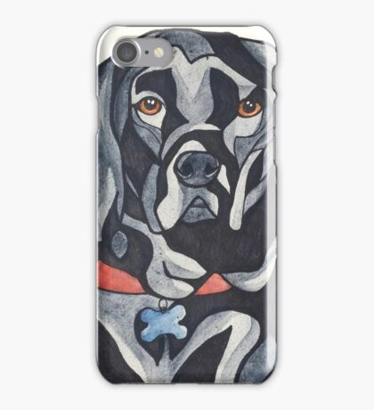 Dog Art #35: Jack the Black Labrador (Black Lab) iPhone Case/Skin