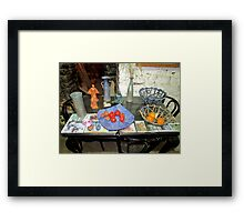 THE THASSOS TOWN POTTER. Framed Print