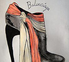 Balenciaga Bootie by Xavier Ness