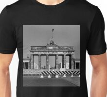 BW Germany Berlin Brandenburg Gate 1970s Unisex T-Shirt