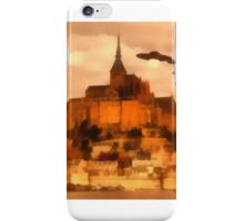 UFO INvasion over St Michel by Raphael Terra iPhone Case/Skin