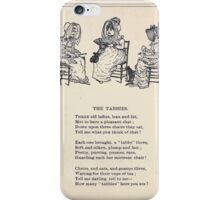Miniature Under the Window Pictures & Rhymes for Children Kate Greenaway 1880 0027 The Tabbies iPhone Case/Skin