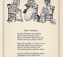 Miniature Under the Window Pictures & Rhymes for Children Kate Greenaway 1880 0027 The Tabbies by wetdryvac