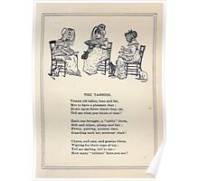 Miniature Under the Window Pictures & Rhymes for Children Kate Greenaway 1880 0027 The Tabbies Poster